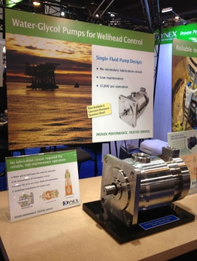 Promoting new pumps at trade shows
